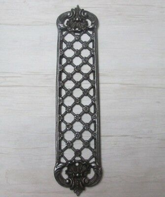 Cast Iron Decorative Ornate Vintage Old Trellis Finger Plate Door Push Plate
