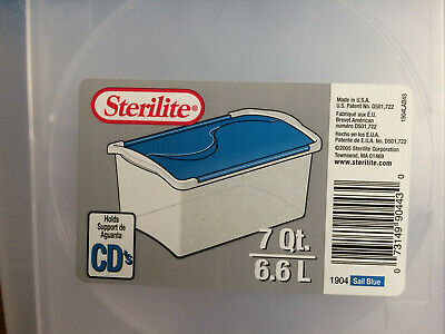 4 CD DVD Sterilite Storage Boxes With Lid
