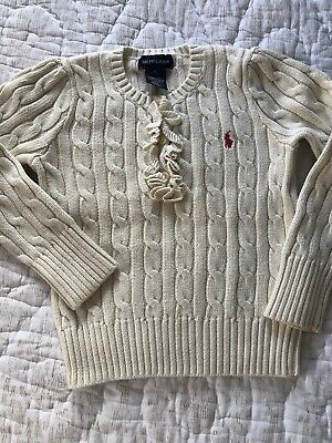 Ralph Lauren Kids Beige Cotton  Jumper Size 5 Years Old Girls