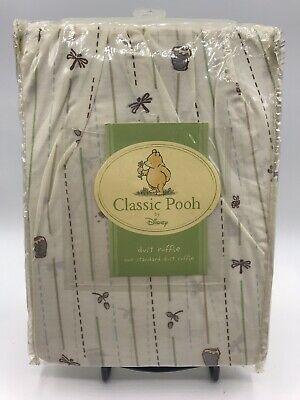 Disney Classic Winnie The Pooh Crib Dust Ruffle Bedskirt New Old Stock