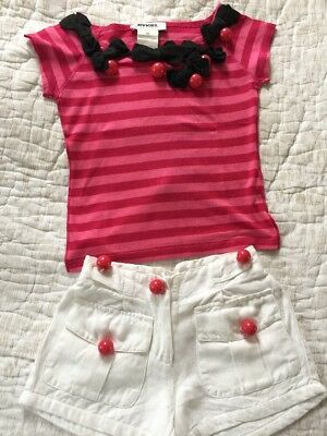 Gorgeous Sonia Rykiel Girls Set Of Detailed Top & Short Age 4 Years