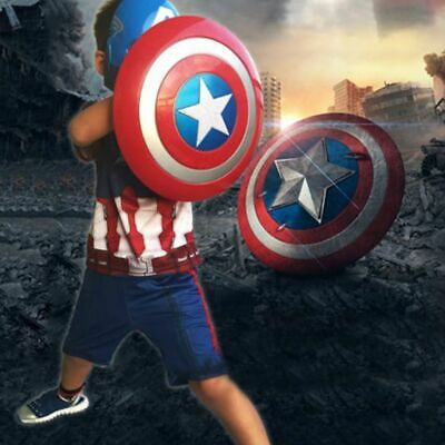Captain America Plastic Shield LED Flash Light Voice Kid Gift Party Cosplay Toy