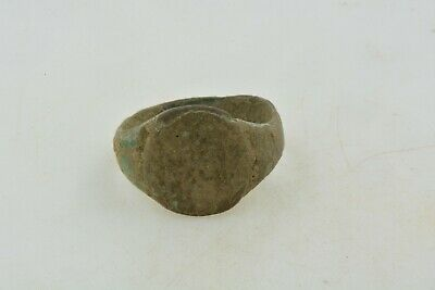 Antique Roman Byzantine Medieval bronze ring 100-1200 AD #9 Size 6 1/2