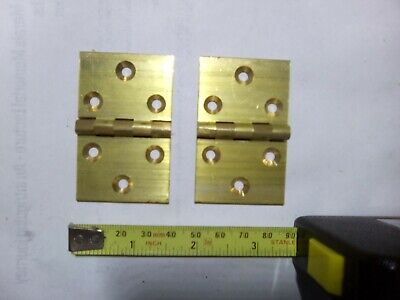 brass backflap hinges x 2, 60 mm x 38 mm