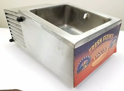 APW Wyott RTR4 Refrigerated Hot Dog Topping/Fixing/Condiment Countertop Bin Rail