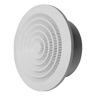 uxcell 4 Inch Air Vent Circular ABS White Cover Adjustable Exhaust Vent Fit for Bathroom Office Kitchen Ventilation