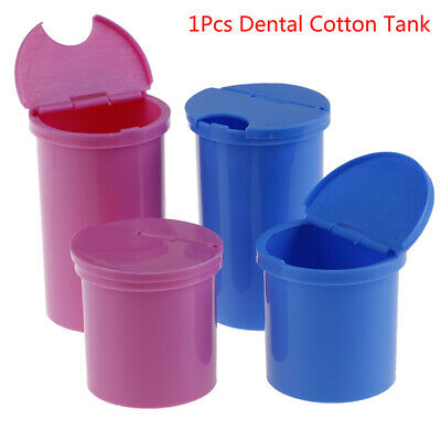 1X Plastic Medical Dental Cotton Tank Alcohol Opening Disinfection Jar  ZB