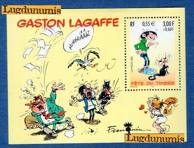 France Bloc N°34 Fete du Timbre Gaston Lagaffe 2001 Neuf Luxe
