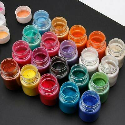 4pcs Pearl Pigment Powder for Epoxy Resin Floors Metallic Dye Ultra Mixed Color