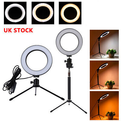 LED Ring Light with Tripod Stand Lighting Kit Dimmable for Makeup Video Shooting