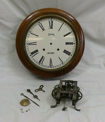 Large Vintage Smiths of London Wind-Up Wall Clock in Pieces. (Hospiscare)