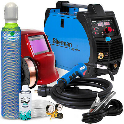 MIG WELDING SET Welder Inverter Welding Machine Portable SHERMAN DIGIMIG 200 GD