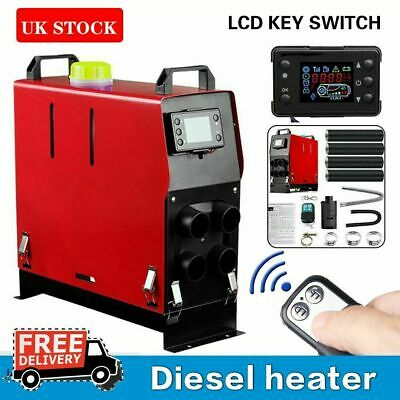 5000W 12V Air Diesel Heater 5KW 4 Holes LCD Monitor Remote Bus Trucks Boats Car
