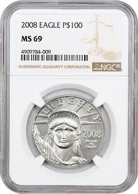 2008 Platinum Eagle NGC MS69 - Statue Liberty 1 oz