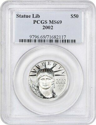 2002 Platinum Eagle PCGS MS69 - Statue Liberty 1/2 oz