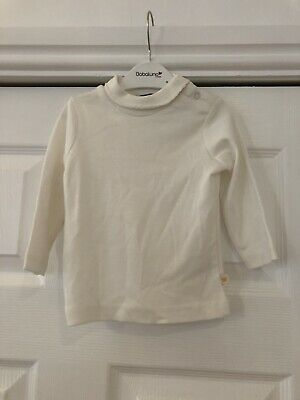 Baby Girls Long Sleeve Top 3-6,6-9,9-12-12-18 Months DS77 Cream Turtle Neck