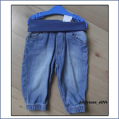 New Baby Boys H&M Blue Jeans Age 3-6 Months Cotton Denim Elasticated Waist