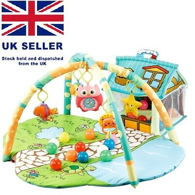 LittleStars Baby Activity Play Mat with House Ball bit, Spacious Playing Area