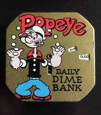 Perfect POPEYE daily dime bank