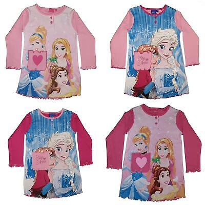 Girls/Kids Disney Princess/Frozen Long Sleeve Nightie Nightdress Age 3-8 Years