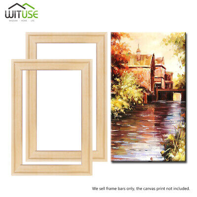 Wall Art Canvas Stretcher Bar Stretching Strip Pine Wood DIY Paintings Frame B6