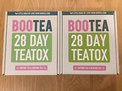 Bootea 28 Day Teatox x 2 Natural Daytime Tea, Bedtime Tea Cleansing - NEW