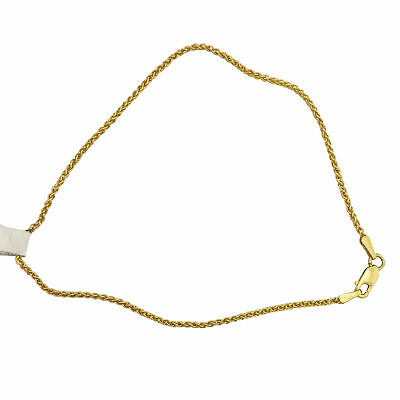 """14k Solid Yellow Gold Braided Wheat Fox Chain Anklet 8.5/"""" 9/"""" 9.5/"""" 10/"""""""