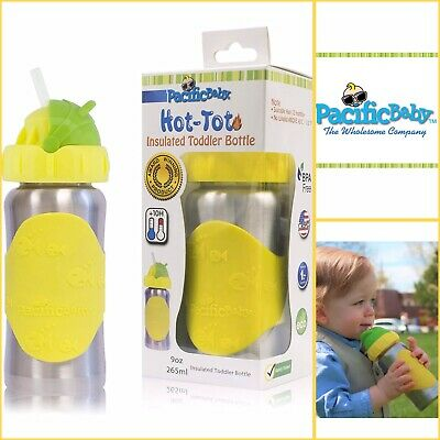 Pacific Baby Hot Tot Insulated Stainless Steel toddler Bottle with Anti-Colic