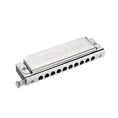 Swan Chromatic Harmonica 10 hole 40 tone with a stainless steel C key box [paral