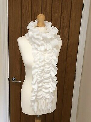 Ladies Cream Scarf and Gloves
