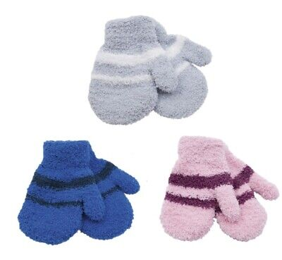 Pair of Kids Girls Boys Childrens Thermal MITTENS Feather Touch Soft Winter Warm