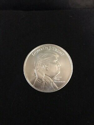 DONALD /& MELANIA TRUMP COMMANDER .999 Silver 1 TROY OZ COIN ONLY 1500 MADE!!