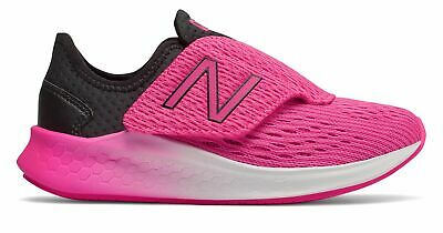 New Balance Kid's Fresh Foam Fast Little Kids Female Shoes Black with Pink Size