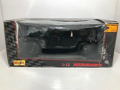 Maisto Hummer Station Wagon Black 1:18 Scale Die Cast!  Free Shipping