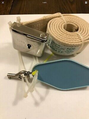 Vintage J.T Posey Gait Medical Transfer Belt With Lock And Key Must See