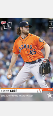 2019 Topps Now Card Al Cy Young Award Finalist Card Astros Gerrit Cole #Os-14