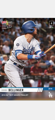 2019 Topps Now Card Nl Mvp Award Finalist Card Dodgers Cody Bellinger #Os-11