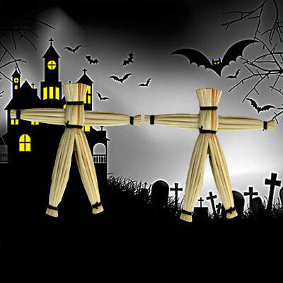 2 Pcs Scary Spooky Gimmick Straw Doll Magic Trick Close Magical Voodoo Doll KV