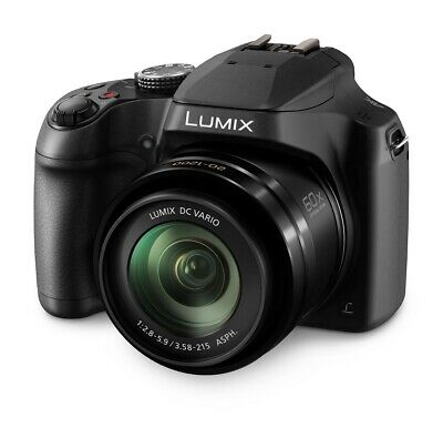 Panasonic DC-FZ82EB-K Lumix Digital Bridge Camera 18.1MP 60x Optical Zoom Black