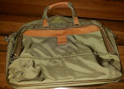 Vintage Hartman Luggage Bag Carry-On Travel Canvas & Leather Weekender messenger