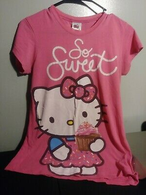 Hello Kitty Girls T-shirt size L pink,  cotton