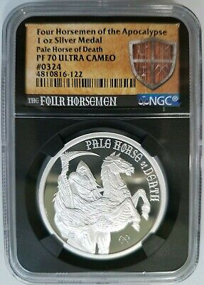 Four Horsemen Of The Apocalypse Series - Pale Horse of Death Silver NGC PF 70 UC