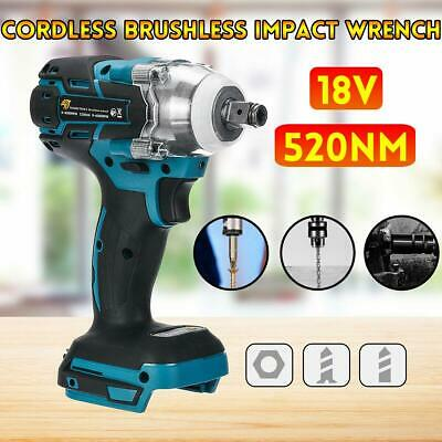 Torque Impact Electric Wrench Brushless Cordless Replacement For Makita Battery