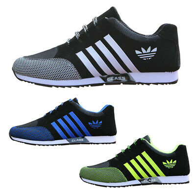 Mens Running Trainers Athletic Pumps Lace Up Mesh Casual Sports Shoes Sneakers