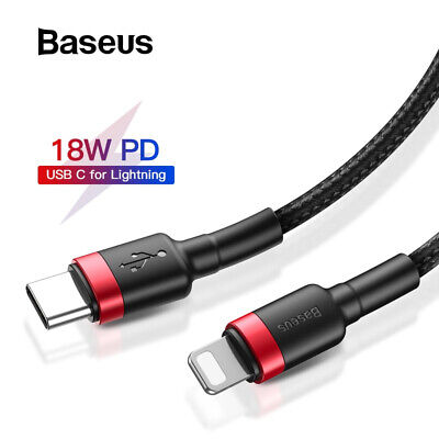 Baseus PD Lightning Type C Fast Charging Cable Apple iPhone 11 Pro Max XR XS 7 8