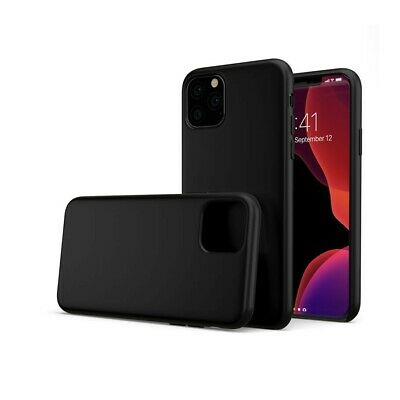 Cover Funda Ultra Delgado Suave Negra Matt TPU Mate para Apple IPHONE 11 pro Max