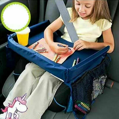 Kids car travel Table Seat Tray Snack Baby Waterproof Play Safety drawing Board