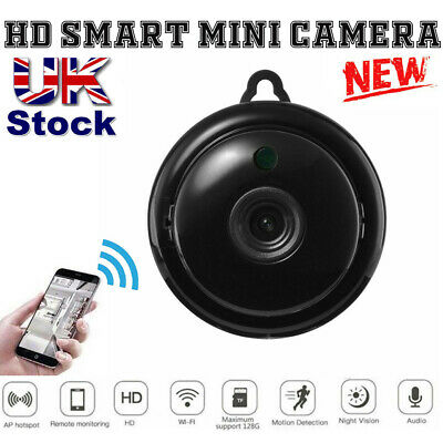 UK Mini IP Camera Wireless WiFi 1080P Hidden Home Security Night Vision Monitor