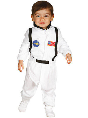 Baby Toddler Spaceman Astronaut Costume Boy Girl Fancy Dress White Kids Outfit