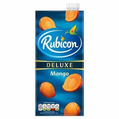 RUBICON Mango Juice Drink Delux 1 L x 6 pack- UK Free Shipping